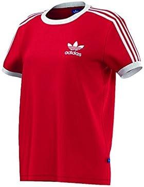 adidas Camiseta para mujer 3-Stripes, mujer, 3-Stripes, Vivid Red, 38