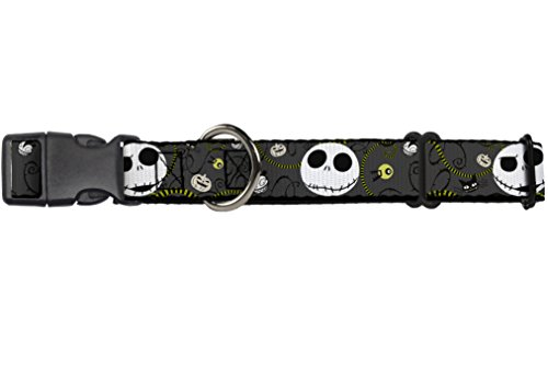 buckle-down-nbc-jack-expressions-halloween-elements-gray-disney-martingale-plastic-clip-collar-large