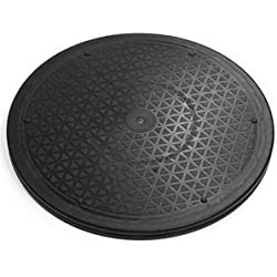 FOME hogar y cocina Heavy Duty giratorio de rotación de tocadiscos soporte de rodamientos de bolas de acero para monitor/TV/tocadiscos/Lazy Susan + a FOME regalo 25cm
