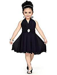 Red Eye Black Color Unique Stylish Party wear Knee Length Kids Dress