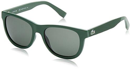 Lacoste wayfarer eye, occhiali da sole unisex adulto, verde, 54