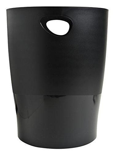 Exacompta 453014D Papierkorb Ecobin EcoBlack (robust und waschbar) 1 Stück schwarz