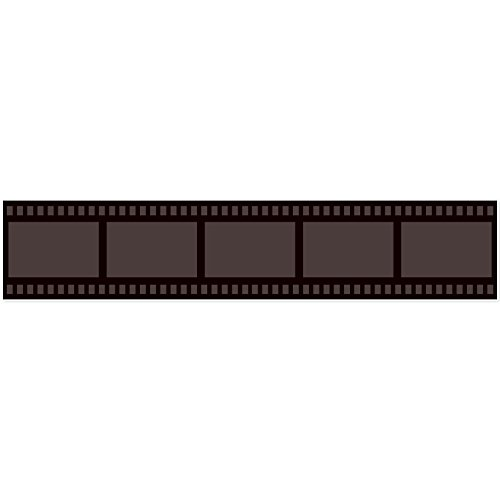 musykrafties Hollywood Ziegelsteinwand Filmstreifen Film Night Party Wand Wandbild Aufkleber Aufkleber Länge 151,9cm Breite 30cm Blank (Nights Film Hollywood)