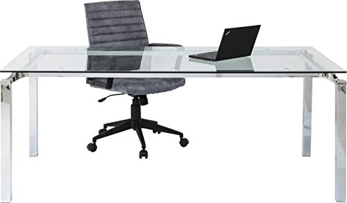 Kare Tisch Lorenco Chrom 180x90cm, 71571, kantiger Esstisch mit Glasplatte, Esszimmertisch mit edlem Chromgestell, (HxBxT) 72x180x90 cm