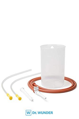 Dr. Wunder Darmeinlauf-Set 1-Liter inkl. 2x Darmrohr: Komplettes Irrigator-Set - 2x Einlaufhilfe ||BPA-frei || zur Darmspülung mit Wasser, Kaffee oder Tee ||inkl. Anleitung