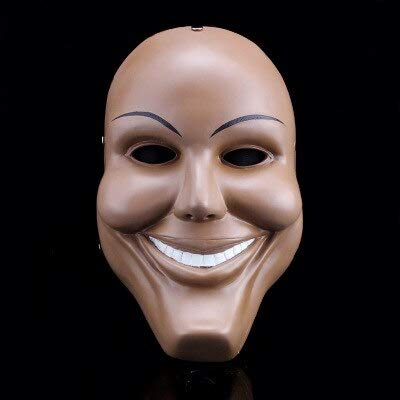 The Purge Mask Gott überqueren beängstigend Halloween Masken Cosplay Party Prop Collection Vollgesichts Harz gruseligen Horrorfilm Masque, Lächeln (Menschen Beängstigend Alten)