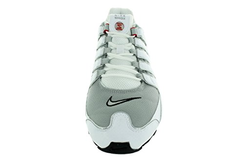 Nike Shox Nz, Scarpe sportive, Uomo White/Metallic Silver-Sport Red-Cool Grey-Black-Cool Grey