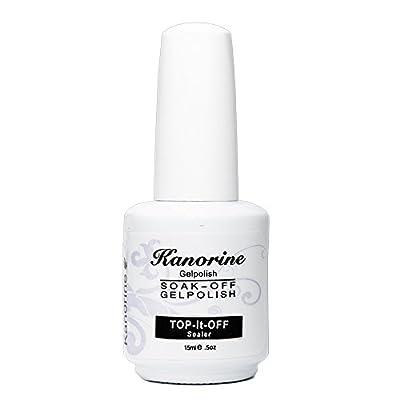 Kanorine Gel Nail Polish Foundation Top Coat Base Soak Off UV LED Drying Varnish 15ml 2PCS
