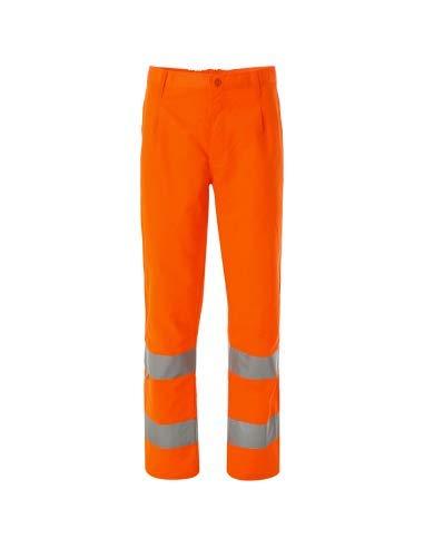 WORK AND STYLE - Pantaloni Alta visibilità - Lumen Arancio, S