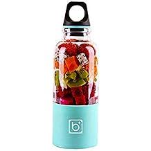 Smoothie Maker mit 2 Trinkflaschen BPA frei Standmixer Mixer Milchshaker 300W TR