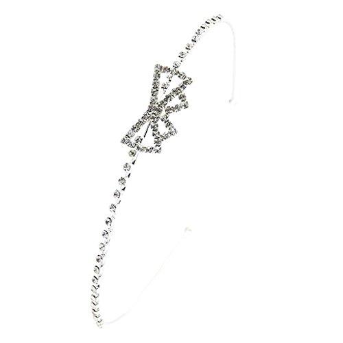 Tiara Diadema Con Lazo De Cristales Artificiales Para Fiesta Boda Novia Boda