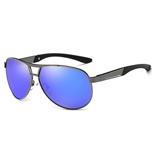 F-blue Blendungs   Barrier polarisiertem Licht Sunbproof Sonnenbrille UV400 Sonnenbrillen Double Color Brillen Driving Brillen Mann