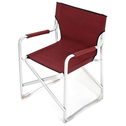 Klappstühle Outdoor Lazy Chair Strand Angeln Lounge Chair Tragbare Camping Rasen Patio Stuhl Geschenk (Color : Red, Size : 85 * 55 * 60cm) -