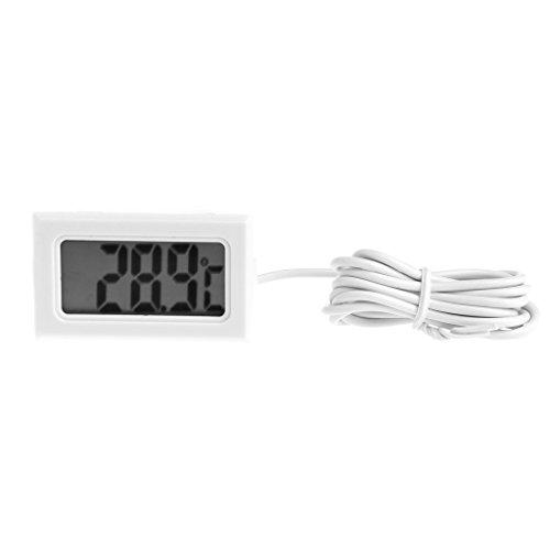 JENOR Termómetro LCD Medidor de Temperatura con Sonda para Frigorífico Fish Tank...