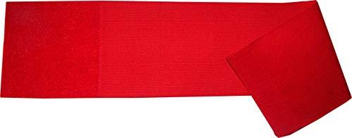 größenverstellbare Armbinde/Mediaband bedruckt mit IHREM INDIVIDUELLEM TEXT (XXXL 35-46 cm) (Farbe rot)
