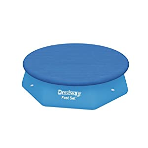 310G9s4P7oL. SS300  - Bestway Fast Set Swimming Pool Cover, Blue, 244 cm