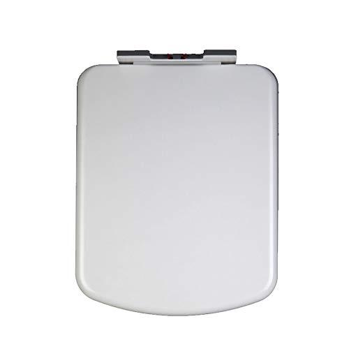 Square Weiß Top (ME WC-Toilettensitz mit Standardscharnieren, Absenkautomatik-Toilettendeckel Square Top Fix-Toilettensitz/Weiß,White)