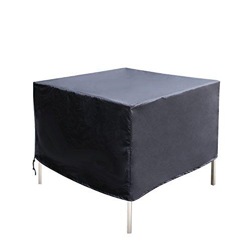 Femor Cubierta Impermeable para Muebles Fundas Protectora para Muebles Sillas Sofás Mesas Cubierta de Exterior Color Negro (120x 120x 74cm)