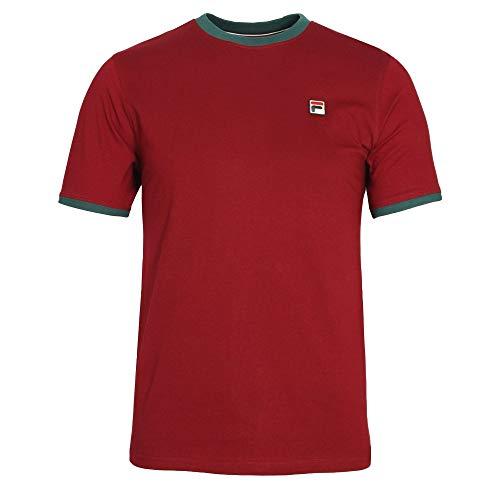 Fila Vintage Marconi Essential Ringer T-Shirt | Tibetan Red Large