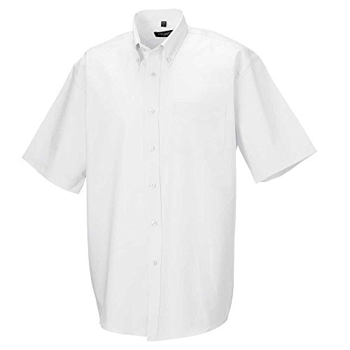 Mens Short Sleeve Oxford Shirt (Russell Collection Mens Short sleeve Oxford shirt)