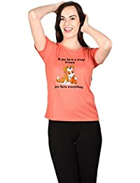 LetsFlaunt Crazy Friends Salmon T-shirt Girls Dry-Fit Nw