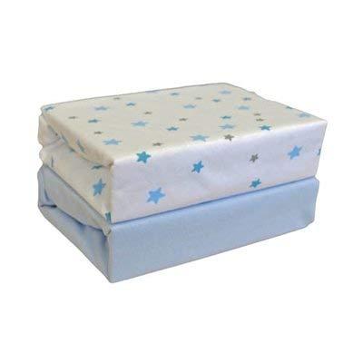 Cuddles Collection Drap-housse Moses (magique étoiles, bleu)