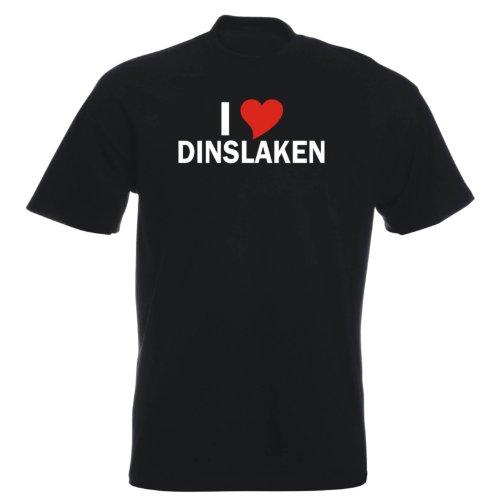 T-Shirt mit Städtenamen - i Love Dinslaken - Herren - unisex Schwarz