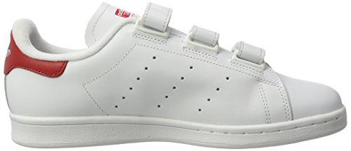 adidas Stan Smith, Baskets Basses Homme Blanc (Ftwr White/Ftwr White/Scarlet)