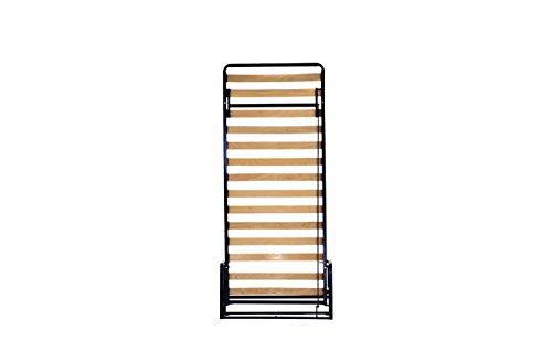 Einzel WANDBETT (Längs) 90cm x 200cm (Klappbett, Schrankbett, Gästebett, Funktionsbett) WALLBEDKING Classic - 3