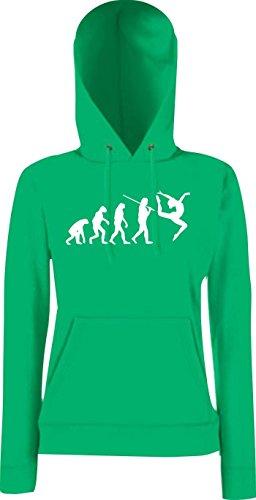 Krokodil Lady Kapuzensweatshirt Evolution Gymnastik Tanz Akrobatik Bodenturnen Ballet, Farbe: kelly, Größe L (Tanz Kostüme Kelly)