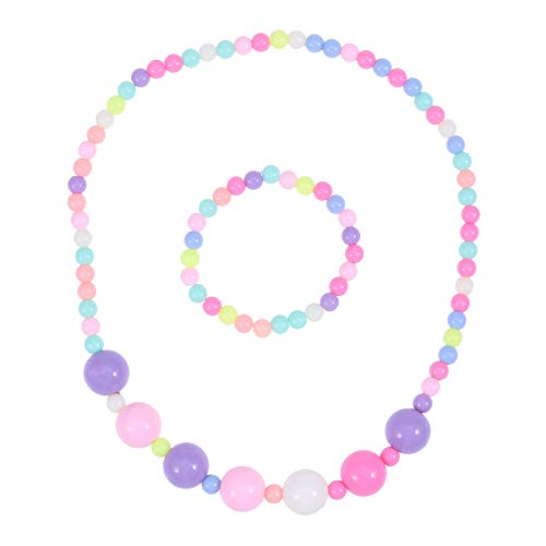 alskette Armband kit Perle Candy Farbe mädchen schmuck Set für Kinder Play Pretend Dress up ()