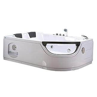 310GXzTjGZL. SS324  - Bañera hidromasaje Model LUNA 120 x 180 cm Bañera de esquina spa hidromasaje Piscina Spa Terapia luz de colores Para 2 NUEVA
