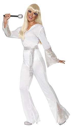 70s Disco Lady Costume, White. S, M, L
