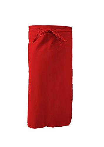 Grevotex Bistroschürze Kellnerschürze Barschürze Grillschürze 95x100 cm rot
