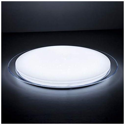OOWOLF Plafoniera LED Soggiorno Dimmerabile 25W, Plafoniera LED Soffitto Luce Colorata RGB con Telecomando, Plafoniera Cambia Colore, Lampada a Soffitto per Soggiorno, Camera da Letto