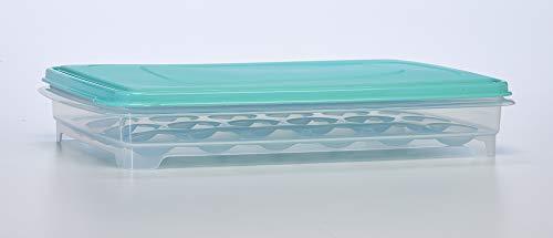 Eierhalter für Kühlschrank - Deviled Egg Tray Carrier mit Deckel, Behälter für 24 Eier Devilled Egg Tray