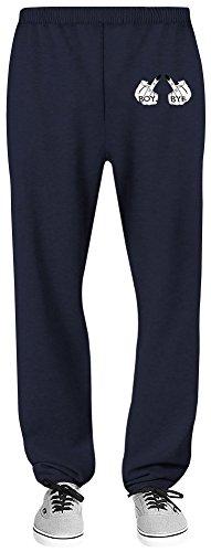 Harma Art Boy Bye Relaxed Jersey Pants - 70% Baumwolle, 30% Polyester - Hochwertige Sweatpants für Indoor & Outdoor AktivitäTen XX-Large (Jersey Navy Blue Boys)