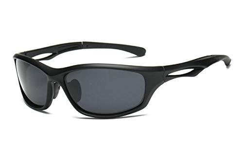 Anyeda Sportbrille Fahrradbrille Unisex TPU+PC Brille Uv Goggles Schwarzgrau