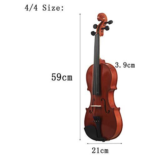 NUYI Tutto Il Violino in Legno 4/4 3/4 1/2 1/4 1/8 in Legno Massiccio Popolare Violino Principiante Pratica Violino per Inviare Custodia per Pianoforte A Coda,4/4
