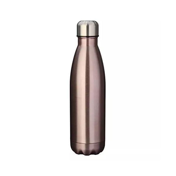Bottiglia d'acqua 500ml doppia parete in acciaio inox coibentato, mantiene Bevanda calda & fredda Perfetto per Campeggio… 5 spesavip