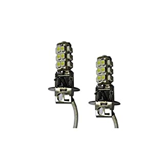 AP Automotive 2x H3 LED Bulbs White 12v (25x SMD 1210 ) 453 - PK22s - H3
