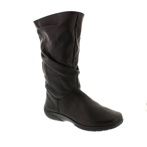 Hotter Mystery Womens Extra Fit Calf Boots 7 Black