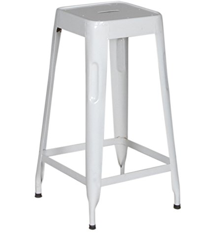 The Attic French Style Paris Bar Stool (Matt Finish, White)