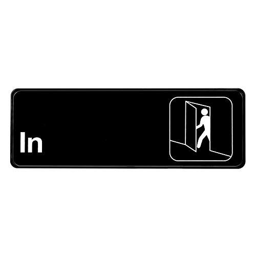 Alpine Industries in Schild, für den Außenbereich, Schwarz und Weiß, mit gut sichtbarem Symbol für Büro, Lager, Restauranttür, Wand und Glasfenster