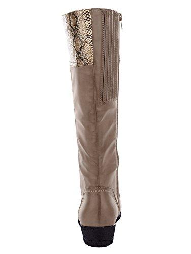 Damen Stiefel aus weichem Softmaterial by Mae&Mathilda Taupe