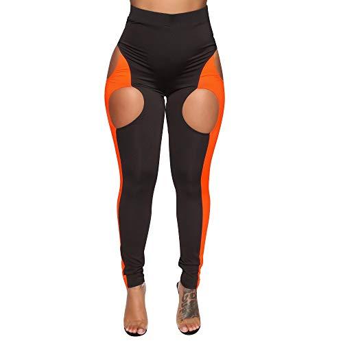 Setsail Damen Sexy Mode Hosen Patchwork Sport-Lange Bequeme Hose Geeignet für den Alltag -