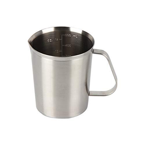 Kitchnexus Edelstahl Messbecher, Milchkännchen Messkanne für Küche Kaffee Latte Cappuccino- Milk Pitcher 500ml