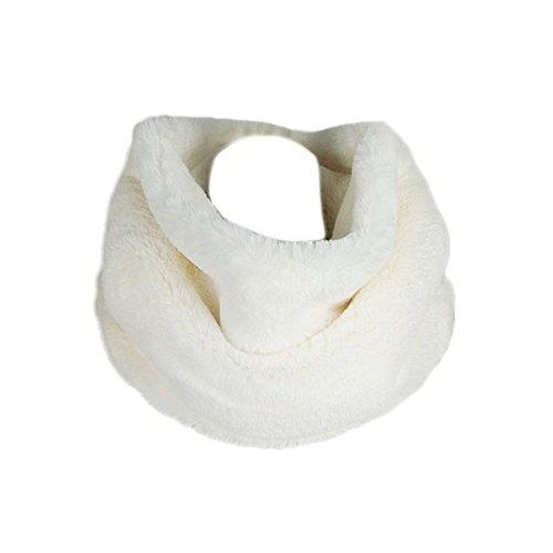 Fashionyoung fy donne unisex autunno inverno infinito sciarpe scaldacollo foulard morbida calda pelliccia collo della giacca cappotto natale regali scarf bianco