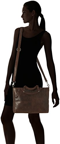Sansibar - Zip Bag, Borsa a mano Donna Marrone (Dark Brown)