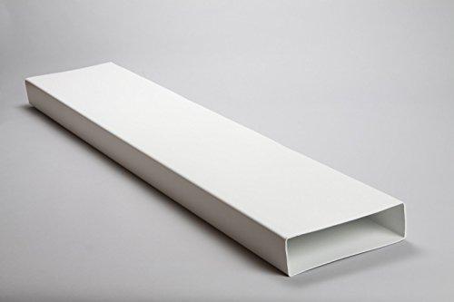 Naplesuk 204mm x 60mm piatto rettangolare canale condotto 1.5metre di lunghezza-bianco plastica